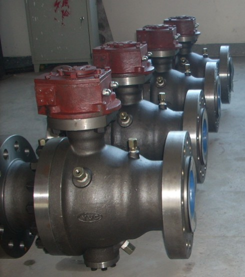 2 PC flange trunnion ball valve