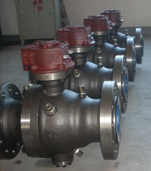 2 PC flange trunnion ball valve