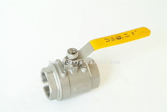 2PC 1000PSI Threaded Stainless Steel Ball Valves