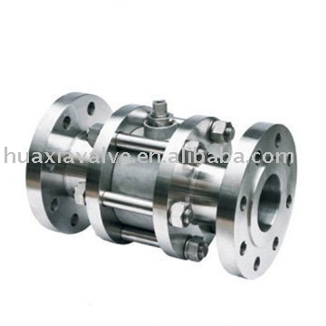 3 pc Body floating type flange end ball valve PN16