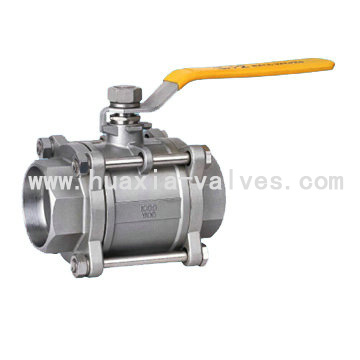 3pc Full Bore 1000PSI STAINLESS Steel Ball valve