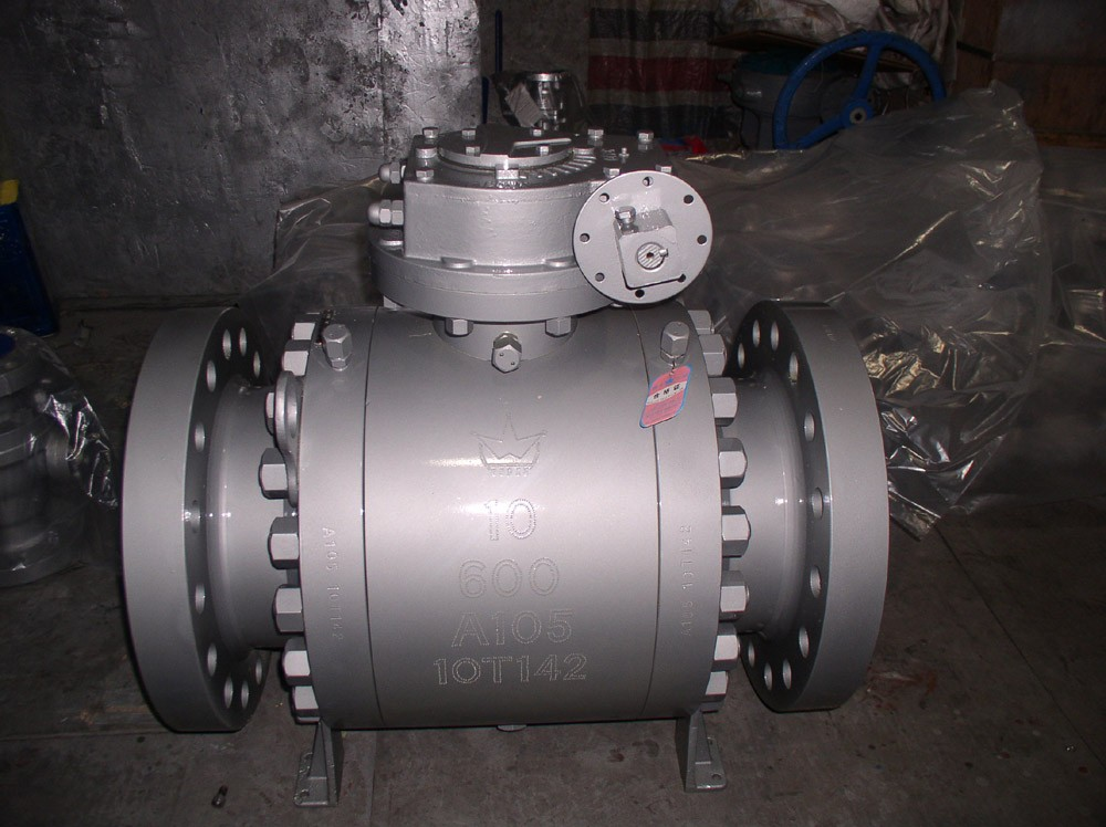 Flanged end forged steel trunnion type ball valve