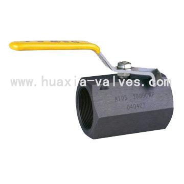 hexangualar ball valve carbon steel threaded end