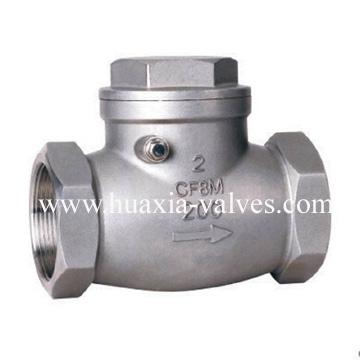 Thread swing check valve