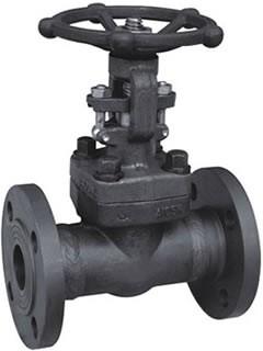 Flange gate valve