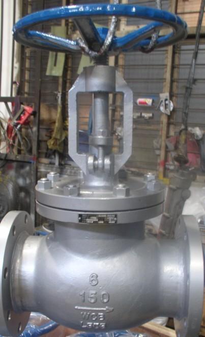 American standard flange globe valve